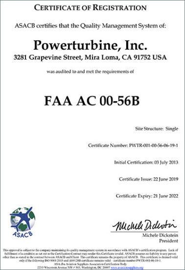 FAA-AC-00-56B Certificate